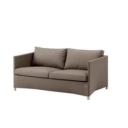 diamond 2 seater sofa in brown