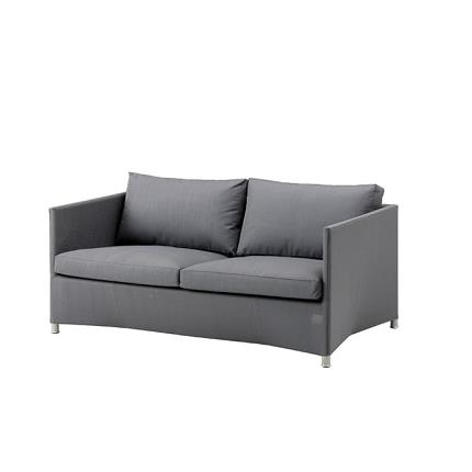 diamond 2 seater sofa in grey