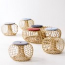nest footstool with cushion