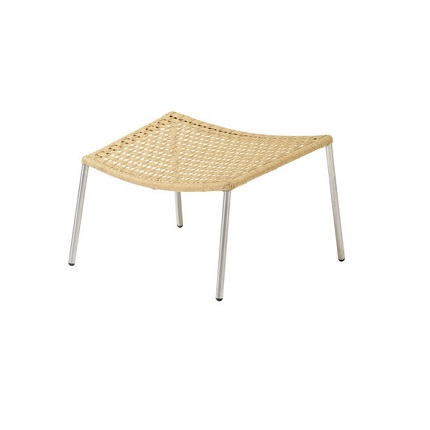 straw footstool natural