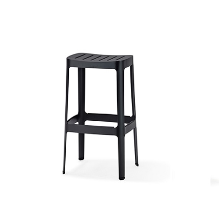 cut stool black