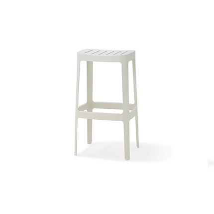 cut stool white