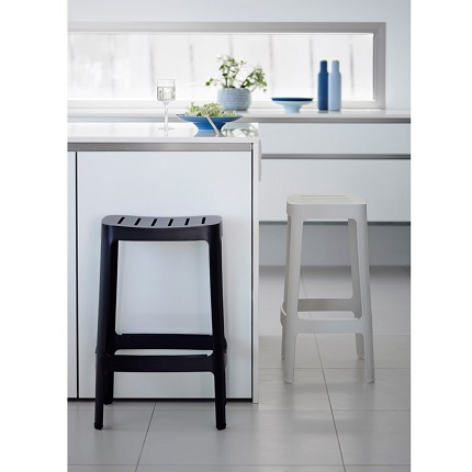 cut stools kitchen black and white