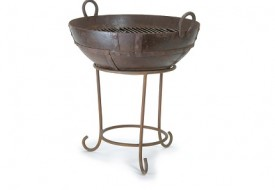 Kadai Fire Bowl with Stand by Garden Trading
