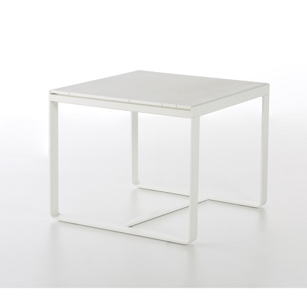 flat high table white