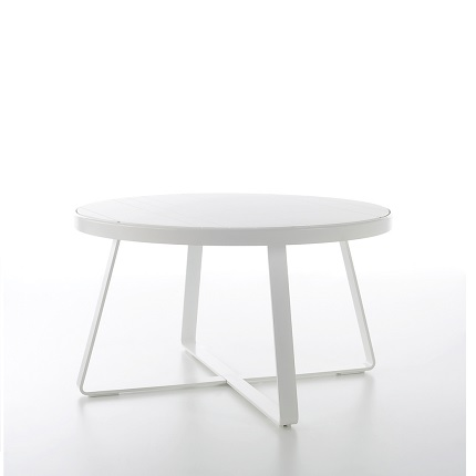 flat round dining table