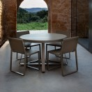 flat round table brown