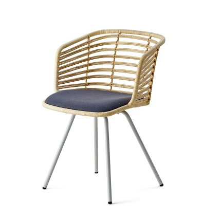 Spin rattan chair by cane line dining furniture