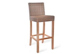 Lymington Rattan Bar Stool by Garden Trading