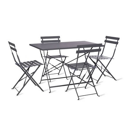 rive droite rectangular bistro table and 4 chairs by garden trading