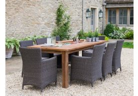 St Mawes 8 Seater Table and Chairs Set by Garden Trading