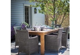 St Mawes 6 Seater Table and Chairs Set by Garden Trading