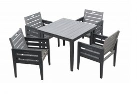 Grigio 4 Seater Dining Set by Florenity