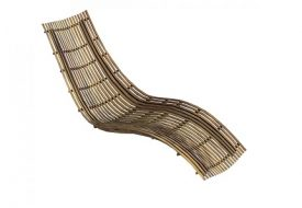 Swing Teak Lounger by Unopiu