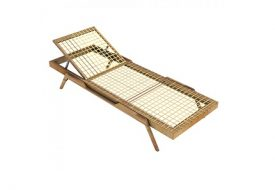 Synthesis Stackable Teak Sunlounger by Unopiu