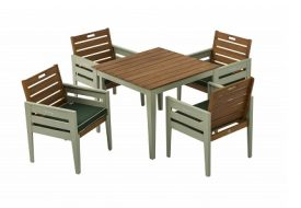 Verdi 4 Seater Dining Set by Florenity
