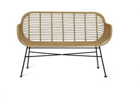 Hampstead Bench - All Weather Bamboo by Garden Trading