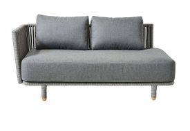Moments 2 Seater Sofa Module Right by Cane-line